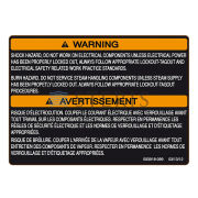 STERIS Product Number P093918099 WARNING LABEL