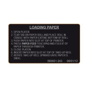 STERIS Product Number P093931243 PRINTER PAPER LABEL