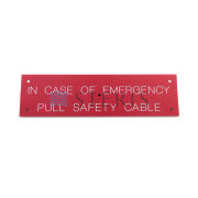 STERIS Product Number P117940106 SAFETY CABLE DECAL