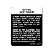 STERIS Product Number P129359025 ELECTRICAL SHOCK WARNING