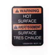 STERIS Product Number P129359033 HOT SURFACE DECAL