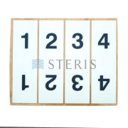 STERIS Product Number P136820281 LABEL SUSP ARM NUMBER ID
