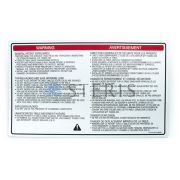 STERIS Product Number P141210459 LABEL WARNING 3085SP IPX4